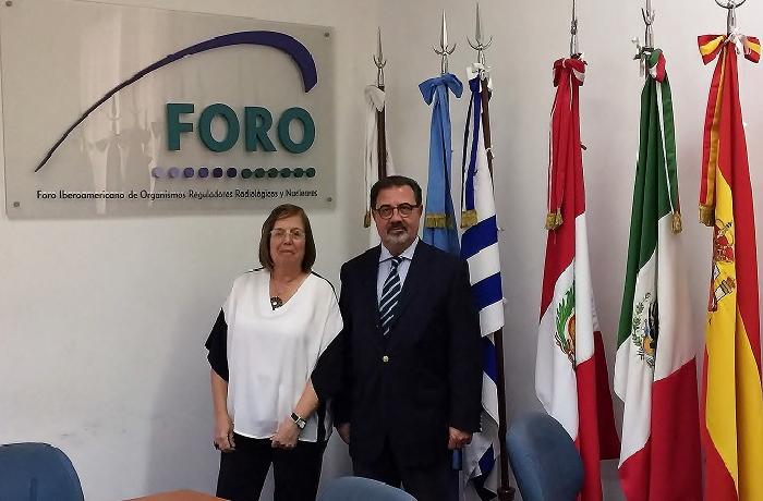 El consejero Fernando Castelló se reúne con la vicepresidenta de la Autoridad Regulatoria Nuclear (ARN) de Argentina