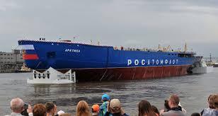 173 metros y 35.000 toneladas: Rusia estrena un gigantesco rompehielos nuclear