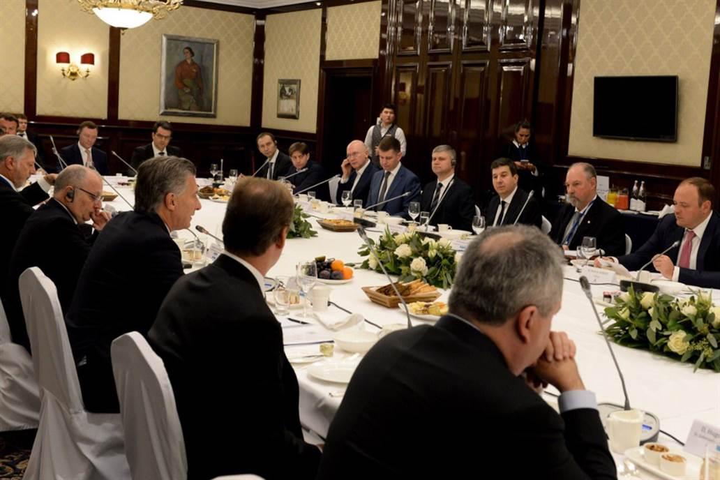 Mauricio Macri a los empresarios rusos: