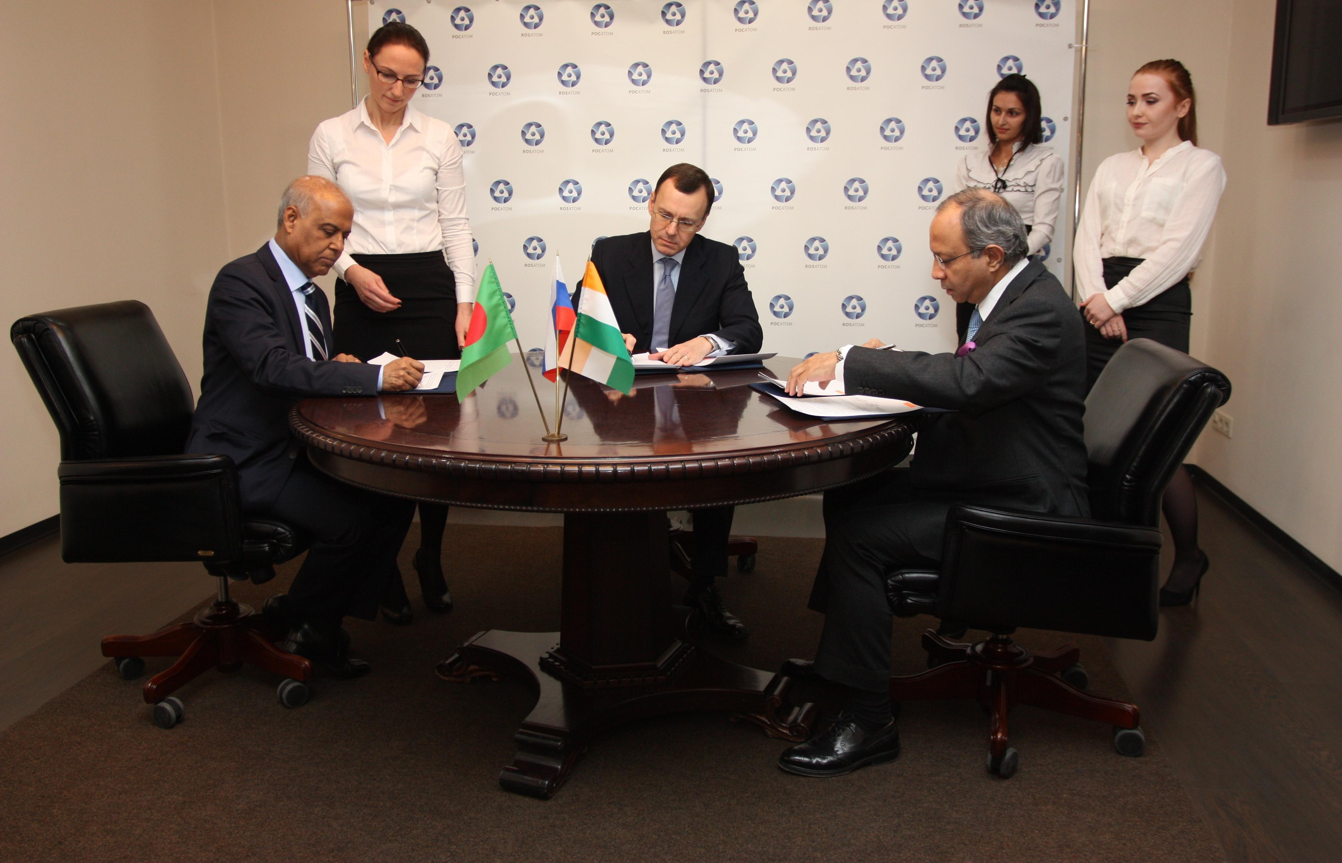 Central Rooppur: memorando trilateral entre Rusia, Bangladesh e India