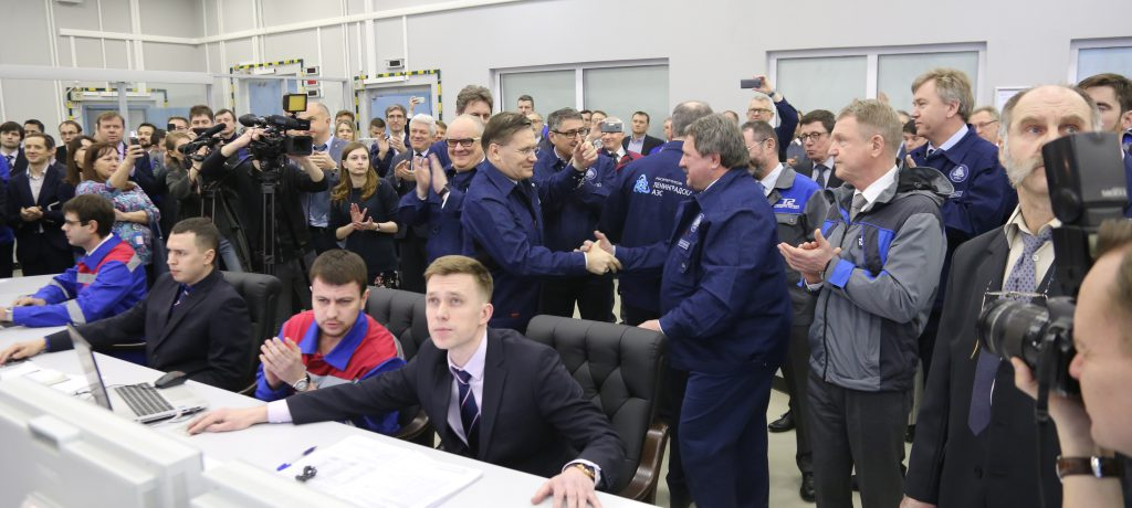 Se conectó a la red la unidad 1 de la central nuclear Leningrado 2