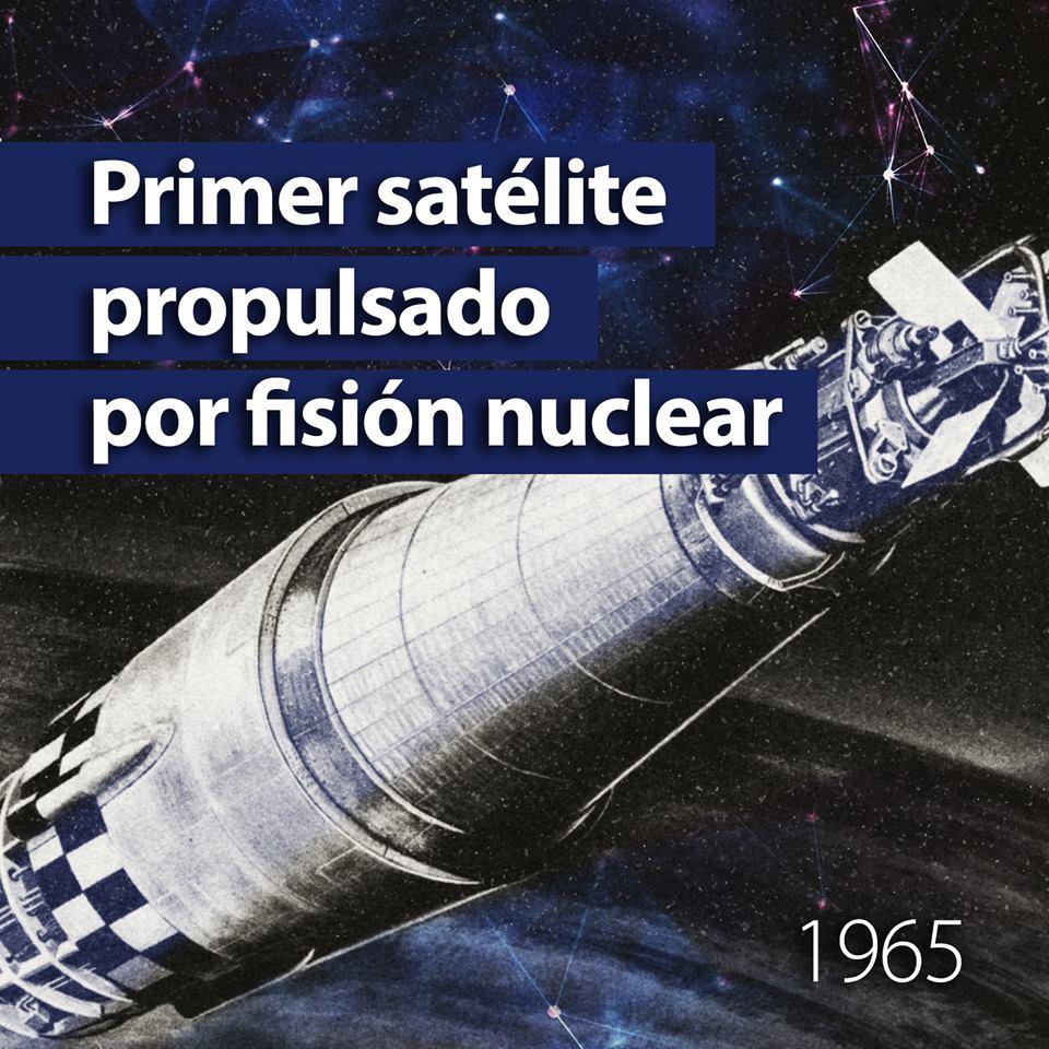 En 1965 se lanzaba el primer satélite propulsado por fisión nuclear
