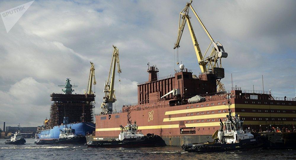 Comienza la carga del combustible en reactores de la primera planta nuclear flotante rusa