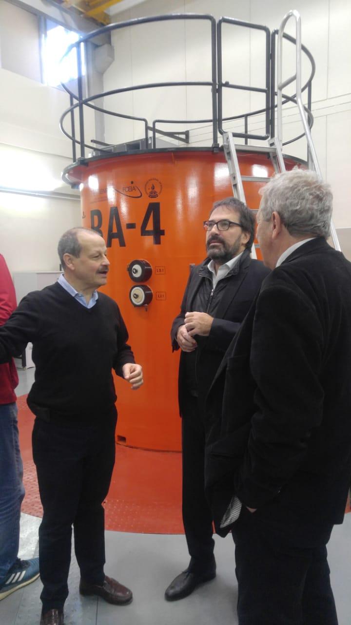 NA-SA en el acto por la puesta en valor del reactor de investigación RA-4
