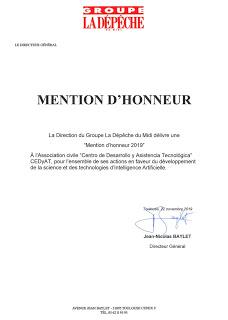 Periódico francés otorga Mención de Honor al CEDyAT