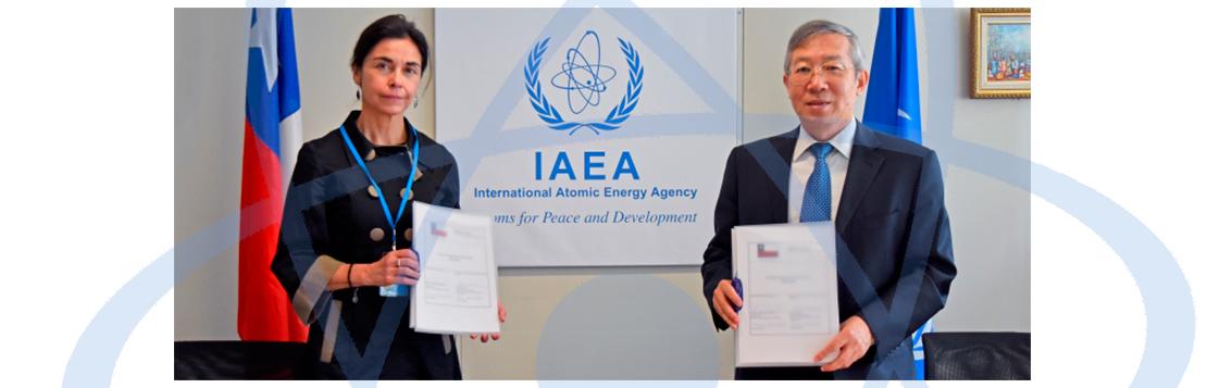 Chile firma con el OIEA su Marco Programático Nacional para 2020-2025