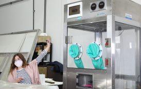 Instalan en el Hospital de Clínicas una cabina para realizar hisopados seguros creada por el INN